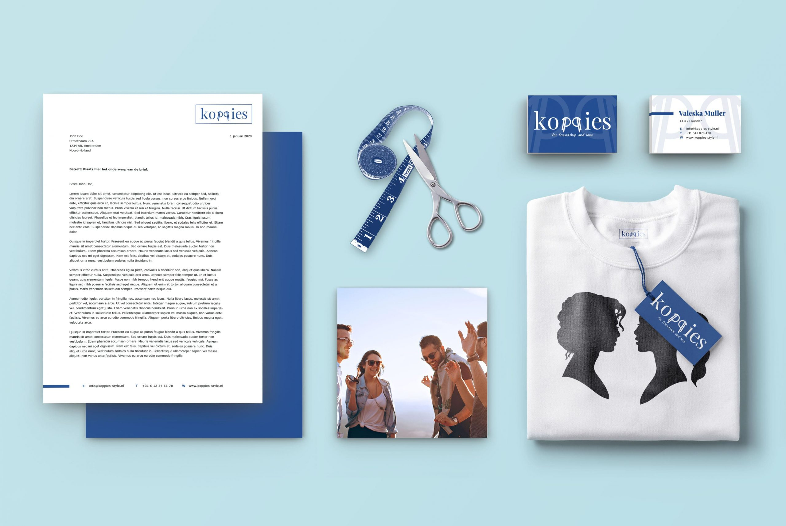 Stationary items for fashion brand Koppies